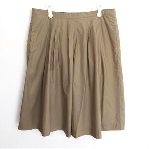Michael Kors pleated work dress skirt khaki tan